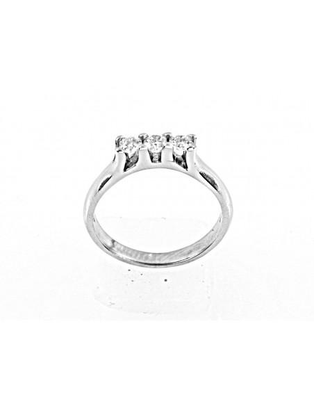 anello trilogy Hong Kong diamanti kt. 0,18 Opera Italiana Jewellery