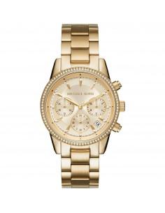 Michael Kors orologio donna Ritz. In acciaio di colore gold con finitura lucida MK6356