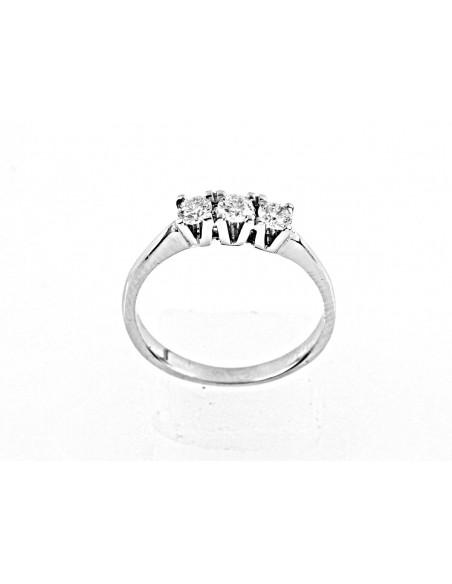 anello trilogy Sidney diamanti kt. 0,39 Opera Italiana Jewellery