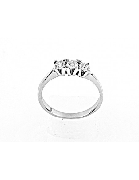 anello trilogy Sidney diamanti kt. 0,51 Opera Italiana Jewellery