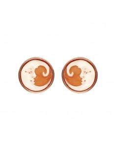 Bronzallure Orecchini Cameo Limited Edition Round Moon Button WSBZ01670.CA