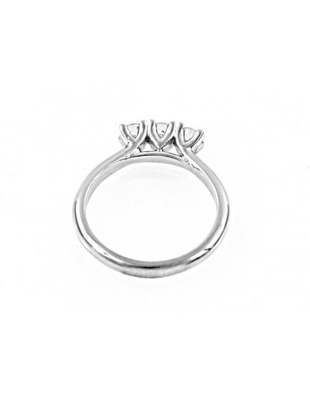 anello trilogy London diamanti kt. 0,27 Opera Italiana Jewellery