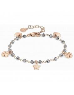 NOMINATION Bracciale MON AMOUR 027230 in acciaio, argento 925 e cristalli SILVER fin. Oro Rosa