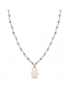 NOMINATION Collana MON AMOUR in acciaio, argento 925 e cristalli SILVER fin. ORO ROSA