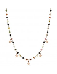 NOMINATION Collana MON AMOUR ed. Rainbow in acciaio, argento 925 e cristalli DARK MIXED fin. Oro Rosa