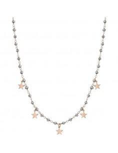 NOMINATION Collana MON AMOUR ed. Rainbow in acciaio, argento 925 e cristalli SILVER fin. Oro Rosa