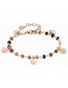 NOMINATION Bracciale MON AMOUR ed. Rainbow in acciaio, argento 925 e cristalli DARK MIXED fin. Oro Rosa