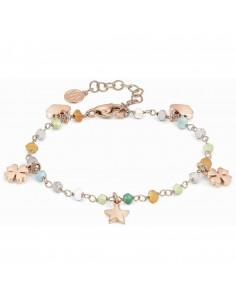 NOMINATION Bracciale MON AMOUR ed. Rainbow in acciaio, argento 925 e cristalli MIXED fin. Oro Rosa
