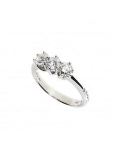 SALVINI anello trilogy in oro bianco 18kt con diamanti caratura 0.75kt