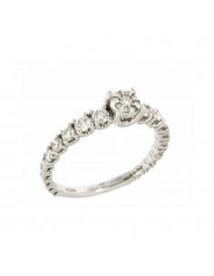 SALVINI collana in oro bianco 18kt con diamanti caratura 0.33kt