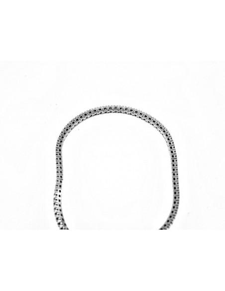 bracciale tennis diamanti kt. 4,00 Opera Italiana Jewellery