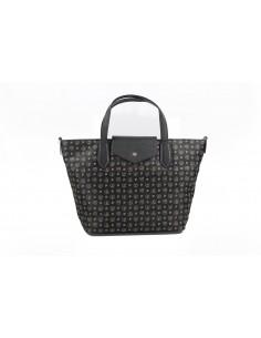 Pollini Borsa Heritage Shopping Soft Nylon Nero + Nero 25X40X14 - TE8434PP07Q6100A