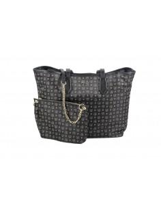 Pollini Borsa Heritage Shopping Soft Nylon Nero + Nero 29X46X14 - TE8427PP06Q6100A