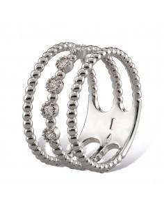 MORAGLIONE 1922 Mini Bubbles anello 3 giri oro e diamanti kt.0.12