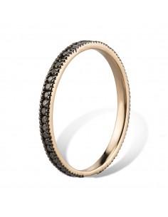 MORAGLIONE 1922 Sahara anello giro oro e diamanti neri kt.0.35