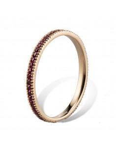 MORAGLIONE 1922 Sahara anello giro oro e rubini kt.0.50