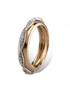 MORAGLIONE 1922 Sahara anello giro oro rosa liscio e diamanti kt.0.23
