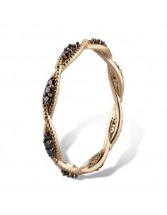 MORAGLIONE 1922 Sahara anello giro oro e diamanti neri kt.0.23