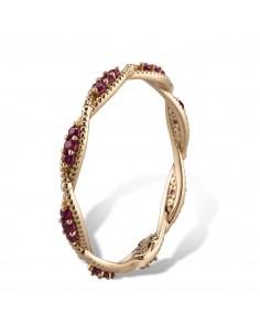 MORAGLIONE 1922 Sahara anello giro oro e rubini kt.0.30