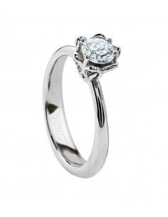 BIBIGI' anello diamante solitario VOGUE kt.0.19