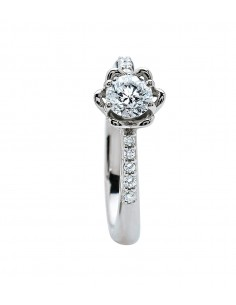 BIBIGI' Vogue anello solitario diamante contorno kt. 0.24