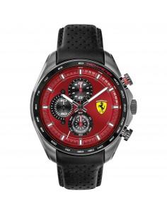 Orologio Ferrari speedracer nero con quadrante rosso - FER0830650