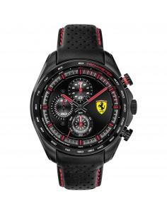 Orologio Ferrari speedracer nero con dettagli rossi - FER0830647
