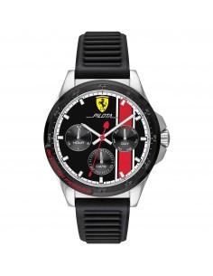 Orologio Ferrari pilota nero con dettagli rossi - FER0830661