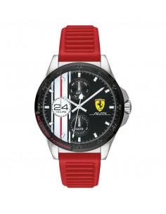 Orologio Ferrari pilota nero con cinturino rosso - FER0830657