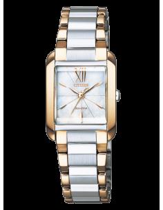 CITIZEN orologio donna in acciaio e rose? con cassa quadrata