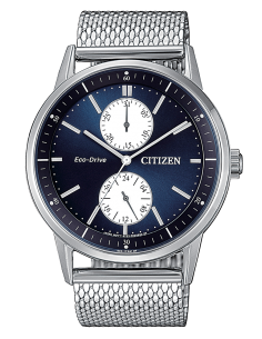 CITIZEN orologio uomo acciaio con cassa blu multifunzione