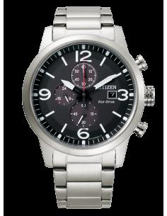 CITIZEN orologio uomo acciaio con cassa color nero multifunzione