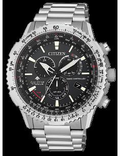 CITIZEN orologio uomo acciaio con cassa color antracite CB5010-81E