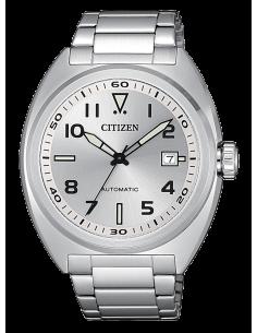 CITIZEN orologio uomo acciaio con cassa metallizzata