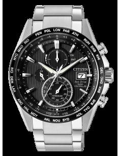 CITIZEN orologio uomo acciaio con cassa nera con dettagli bianchi
