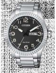 CITIZEN orologio uomo acciaio con cassa color nero