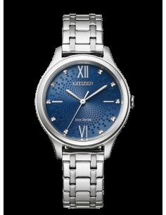 CITIZEN orologio donna in acciaio con cassa blu