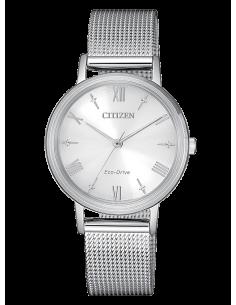 CITIZEN orologio donna in acciaio con cassa grigio chiaro