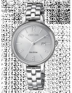 CITIZEN orologio donna in acciaio con cassa color metallo