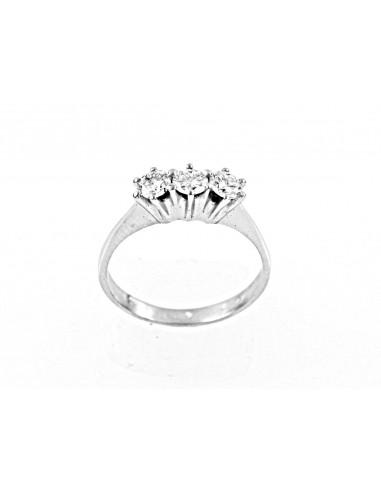 anello trilogy New York diamanti kt. 0,60 Opera Italiana Jewellery