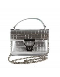 Coccinelle borsa Mignon croco shiny soft colore silver