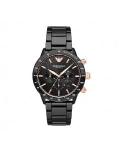 Emporio Armani orologio uomo Mario ceramica nero rosa