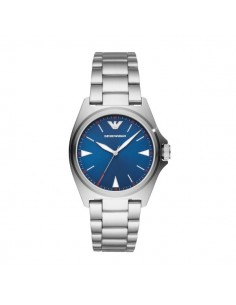 Emporio Armani orologio uomo Nicola acciaio blue