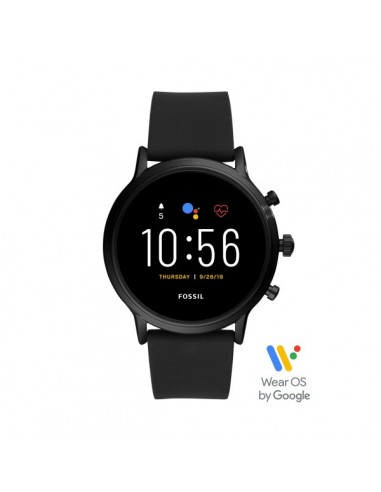 Fossil Smartwatch The Carlyle Hr Black in acciaio e silicone