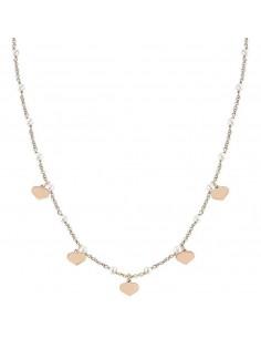 NOMINATION Collana argento rosato con perle MON AMOUR Cuore