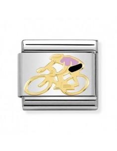 NOMINATION Composable Classic Acciaio - Oro 750 Ciclista Rosa
