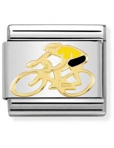 NOMINATION Composable Classic Acciaio - Oro 750 Ciclista Giallo