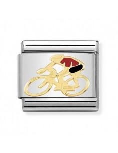 NOMINATION Composable Classic Acciaio - Oro 750 Ciclista Rosso