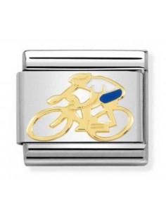 NOMINATION Composable Classic Acciaio - Oro 750 Ciclista Bianco