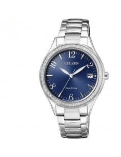 CITIZEN orologio donna in acciaio con cassa blu marino